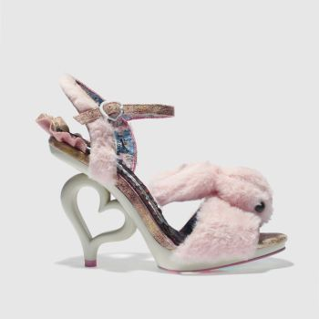 Irregular Choice Pale Pink Fluffy Love Womens High Heels