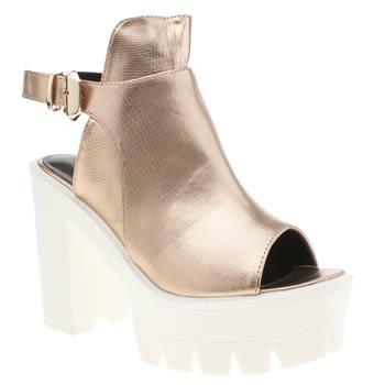 privileged rose gold drifter cuff high heels