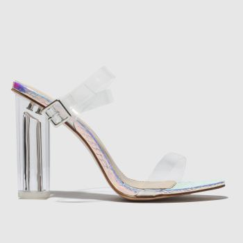 Public Desire Silver Alia c2namevalue::Womens High Heels
