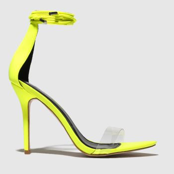Public Desire Yellow Jorja Womens High Heels