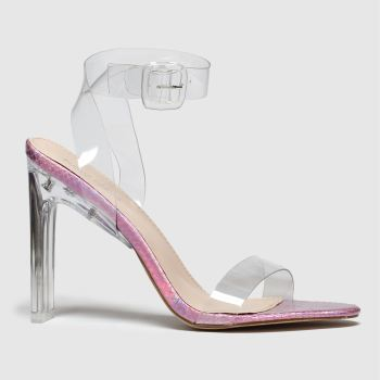 Public Desire Pink Slice Womens High Heels