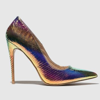 Public Desire Multi Unicorn Womens High Heels