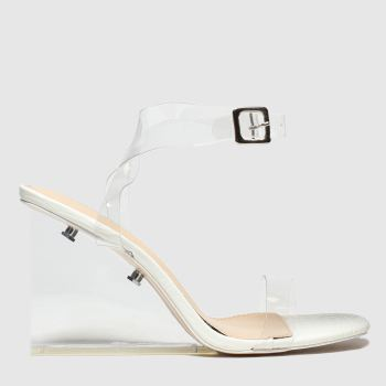 Public Desire White Lati Womens High Heels