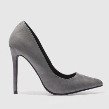 MISSGUIDED GREY POINT TOE HIGH HEELS