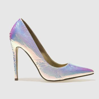 Missguided Silber Point Toe Court Damen High Heels