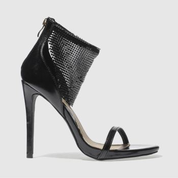 Missguided Black Chain Mail Cuff Womens High Heels