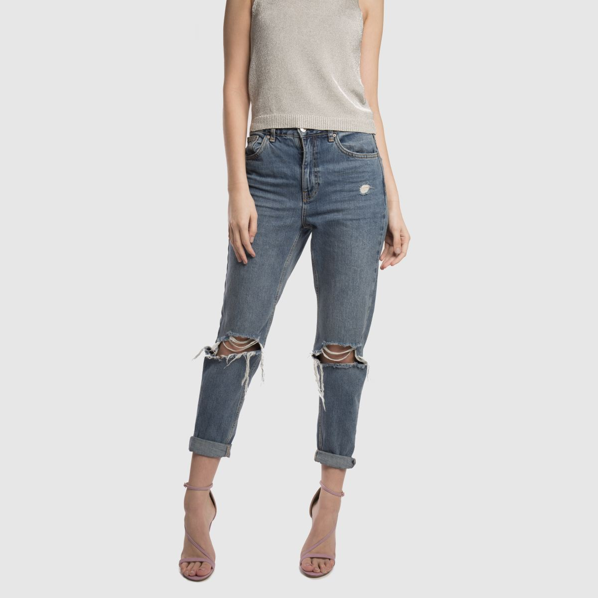 Damen Blaulila Gute missguided Asymmetric Strappy High Heels | schuh Gute Blaulila Qualität beliebte Schuhe b521fb