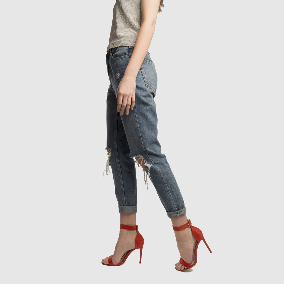 Damen Rot missguided Flat Strap Barely There Gute High Heels | schuh Gute There Qualität beliebte Schuhe 032125