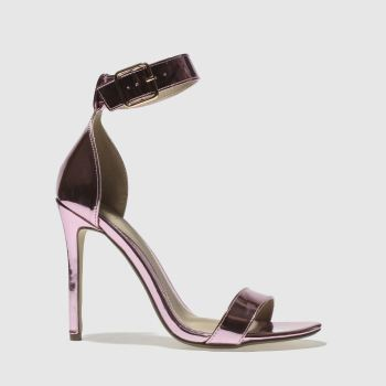 Missguided Pink Flat Strap Barely Womens High Heels