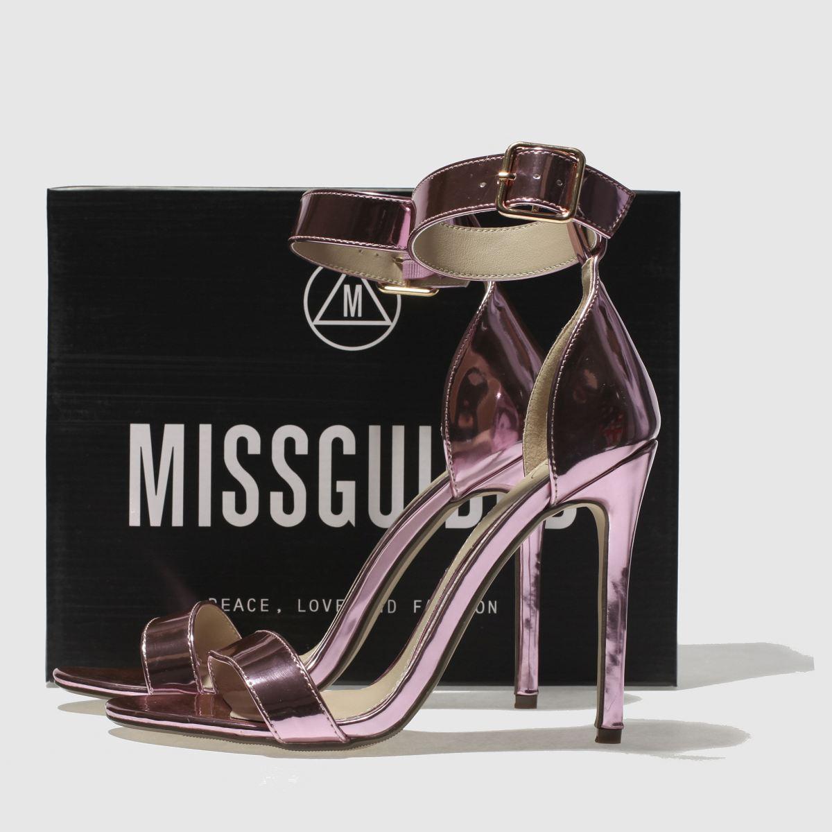 Damen Pink missguided Flat Strap Barely High Heels   Schuhe schuh Gute Qualität beliebte Schuhe   fae2a9