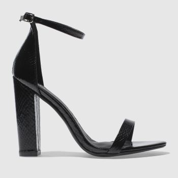Missguided Black BLOCK HEEL ANKLE STRAP High Heels