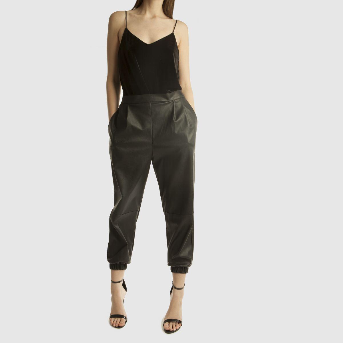 Damen Schwarz missguided Block Heel Ankle Strap High Heels | schuh Gute Qualität beliebte Schuhe