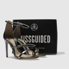 Missguided 3 strap metallic snake 1