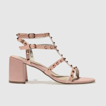 MISSGUIDED PALE PINK STUDDED GLADIATOR HIGH HEELS