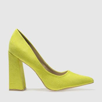 Missguided Yellow Flared Point Heel Womens High Heels