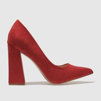 Missguided Red FLARED POINT HEEL High Heels