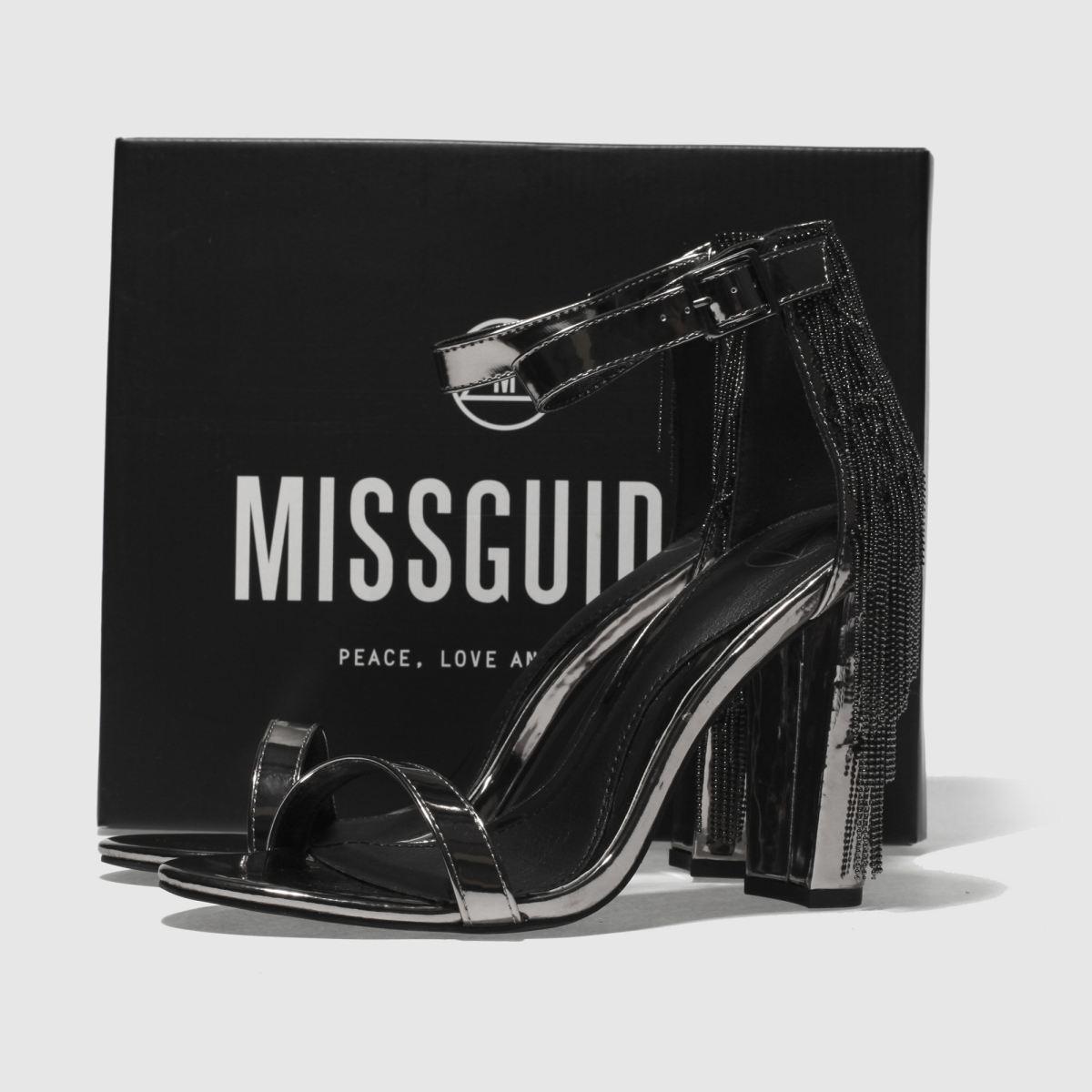 Damen Zinn missguided Metal Tassel Block High Heels   Schuhe schuh Gute Qualität beliebte Schuhe   3ab9ad