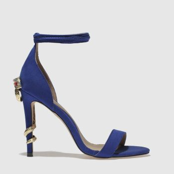 Missguided Navy Barely There Snake Womens High Heels