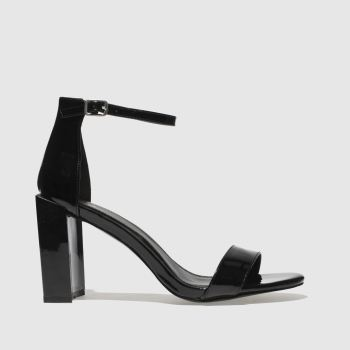 Missguided Black Feature Block Heel Womens High Heels