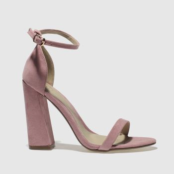 Missguided Pink Flared Barely There Womens High Heels