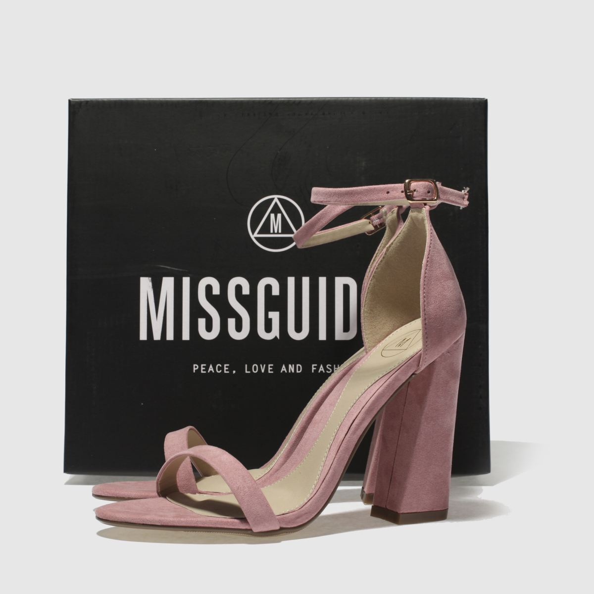 Damen Pink missguided Flared | Barely There High Heels | Flared schuh Gute Qualität beliebte Schuhe cf6d87