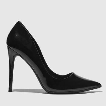 Missguided Black Entry Court Womens High Heels