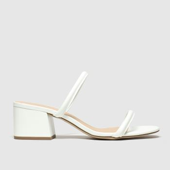 Schuh White Empathy Womens Low Heels