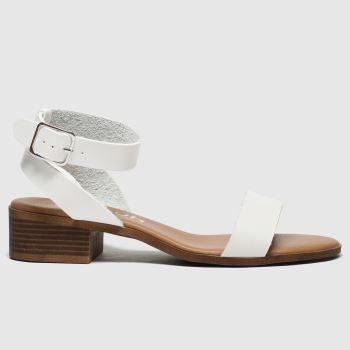 schuh White Sunrise Low Heels
