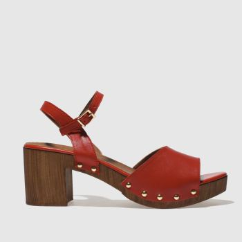 SCHUH RED MICHIGAN LOW HEELS