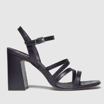 Schuh Black Complex Strappy Sandal Womens Low Heels