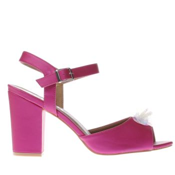 SCHUH PINK KISS IT FLOWER LOW HEELS