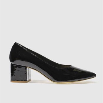 Schuh Black Shimmy Womens Low Heels