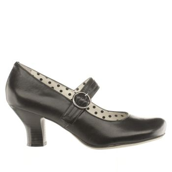 HUSH PUPPIES BLACK PHILIPPA BUCKLE LOW HEELS