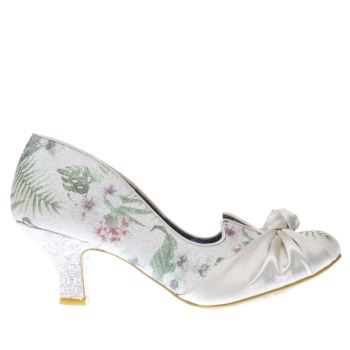 Irregular Choice White DAZZLE PANTS PALM GLITTER Low Heels