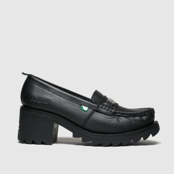 Kickers Black Klio Loafer Womens Low Heels