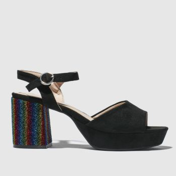 Schuh Black Disco Womens Low Heels
