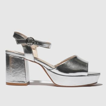 Schuh Silver Disco Womens Low Heels