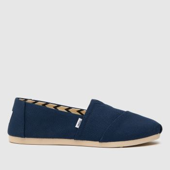 TOMS Navy Classic Slip Womens Flats