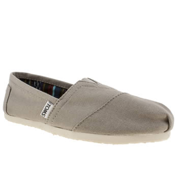competitive price d44a5 4213d womens light grey toms classic flat shoes | schuh
