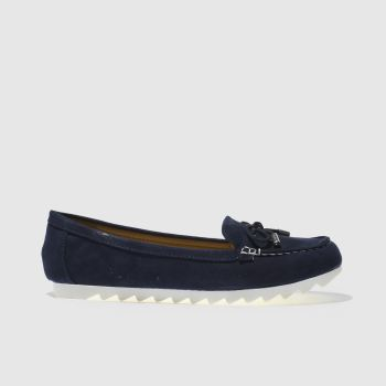 SCHUH NAVY JETSETTER FLAT SHOES