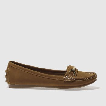 Schuh Tan Speed Boat Womens Flats
