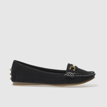 Schuh Black Speed Boat Womens Flats