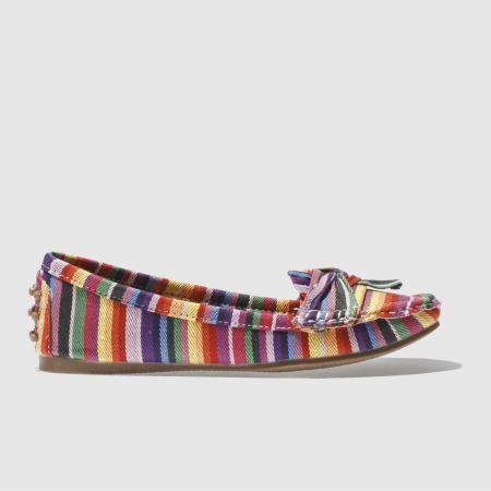 Women Schuh Bow Down Flats Multi
