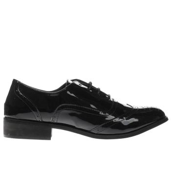 SCHUH BLACK CLEVER FLAT SHOES