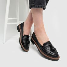 schuh Livia Croc Tassel Loafer 1