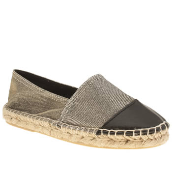 schuh silver hoopla flat shoes