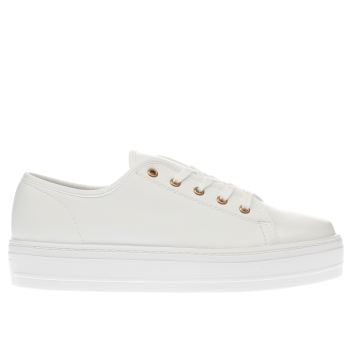 Schuh White Creep Platform Womens Flats