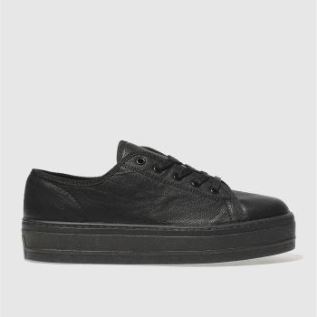 Schuh Black Creep Platform Ii Womens Flats