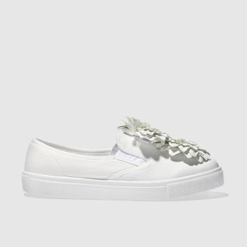 Schuh White Awesome Flowers Womens Flats