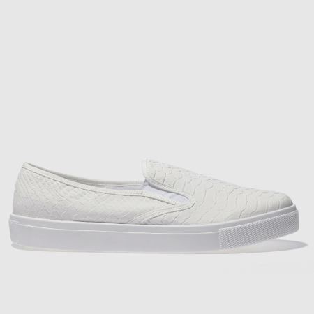 Women Schuh Awesome Snake Flats White